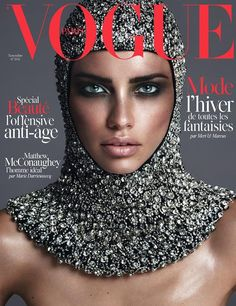 Adriana on Vogue Paris--Landing her first ever Vogue Paris cover, Adriana Lima graces the November 2014 issue of the magazine. The Brazilian model channels