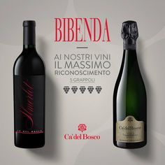 #5grappoli da Bibenda per il #merlot 2009 e il #franciacorta #dosagezeronoir #vintagecollection 2007 di Ca' del Bosco #enjoycadelbosco #cadelbosco #bibenda