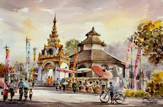 Watercolor by Thankorn Chaijinda