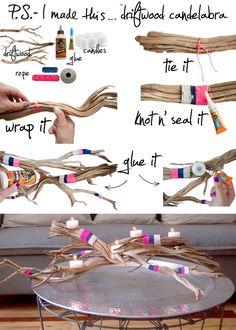 P.S.- I made this... Driftwood Candelabra  #PSIMADETHIS  #DIY