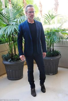 Press tour: Guy Pearce appeared lean and slightly tired while promoting his new ABC minise. Guy Pearce, Press Tour, Tired, Guys, Garden, Style, Fashion, Natural Person, Fotografia