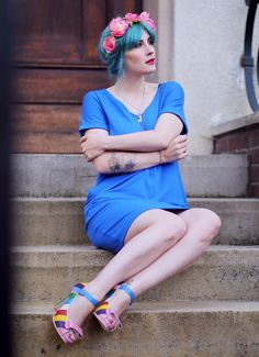 turquoise hair, türkise haare, festival fashion, like a riot, Summer Outfit, Summer Style, Summer Look, Fashion Blog, Blogger Style, Reserved Fashion