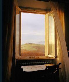 | ♕ | Tuscan window - Val dOrcia, Pienza, Italy via itsakeeper: wishflowers: ysvoice: chestchest