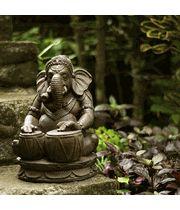 Drumming Ganesh Garden Statue