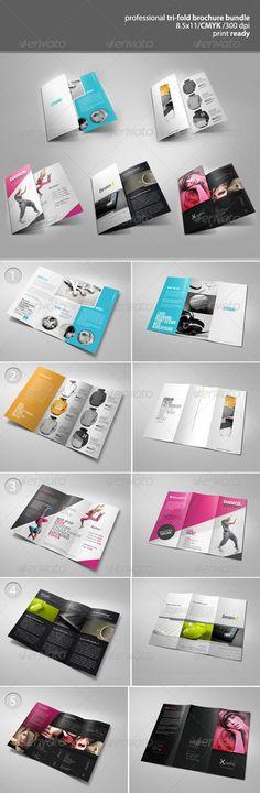 Tri-Fold Brochure Bundle 1 - GraphicRiver Item for Sale