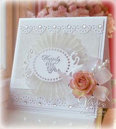 v pretty wedding card