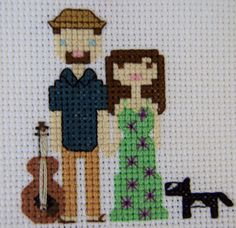 Anniversary Gift Guitar Player Custom Cross by SeaOfDreamsCrafts