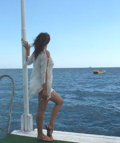 Natural Handwoven Turkish Towel Beach Dress by TheAnatolian