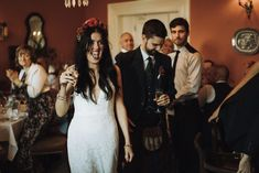 A gorgeous real wedding in Rosleague Manor. Be inspired by Margaret and David's cool and colourful house party wedding in Connemara. Connemara, House Party, House Colors, Real Weddings, Ireland, David, Formal Dresses, Inspiration, Fashion