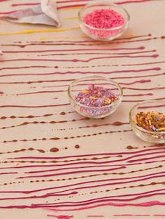 Make Your Own Cookie & Cake Sprinkles--with juice for the colors!