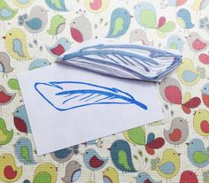 Feather stamp, feather hand carved stamp, feather rubber stamp, handmade stamp, card making supplies