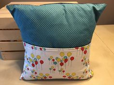 Balloon Pocket Pillow by thescrappyquilter22 on Etsy