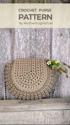 Crochet Purse Patterns, Crochet Clutch, Crochet Handbags, Crochet Purses, Bag Patterns, Crochet Bags, Knitting Projects, Crochet Projects, Crochet Ideas