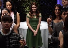 """S1 Ep8 """"Burnt Toast"""" - Karma is looking at Amy giving  a toast to her mother wedding"""