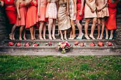 Coral bridesmaid dresses | Photo by Christine Lim Photography | Read more - http://www.100layercake.com/blog/?p=73953