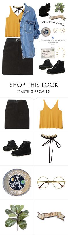 """""""like the moon loves the sun"""" by naseerasempiternal ❤ liked on Polyvore featuring Rebecca Minkoff, Monki, Timberland and Retrò"""