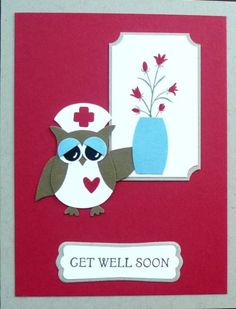 Get Well Owl Nurse Front by Theresa Romani - Cards and Paper Crafts at Splitcoaststampers