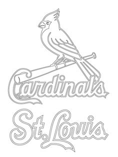 cardinals coloring pages baseball logos | Chicago Cubs Logo Coloring page | Coloring Pages ...