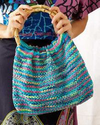 Psychedelic Hobo Bag - from All Free Knitting