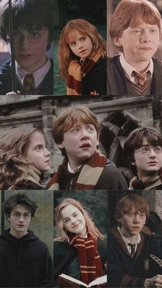Harry Potter, Ron Weasley y Hermione Granger wallpaper aesthetic Harry Potter Tumblr, Harry Potter Drawings, Harry Potter Pictures, Harry Potter Cast, Harry Potter Characters, Harry Potter Fandom, Harry Potter Hermione Granger, Harry Potter Hogwarts, Harry And Hermione