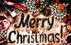 Download wallpapers Merry Christmas, decoration, New Year, wooden snowflakes
