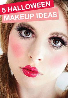 Halloween is closer then you think! Start thinking about your costume makeup with these great ideas!