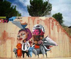Unique street art in Spain by Patricia Perez #streetart #art #graffiti #spain