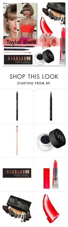 """""""Taylor Swift at the Grammys"""" by living-on-the-catwalk ❤ liked on Polyvore featuring beauty, Urban Decay, Bobbi Brown Cosmetics, NARS Cosmetics, Forever 21 and Maybelline"""