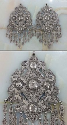 Kazakhstan | Pair of matching pendants; silver. ca. 1940s. | 2850$