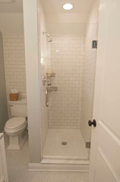 Check Out This Shower Makeover Using Discounted Travertine Stone Simple Door Ideas For Small Bathroom Decorating Design