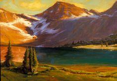 SOLD I Mystic Island Lake I 24x33 I Dix Baines I Fine Artist Original Oil Paintings I Mountains I www.dixbaines.com
