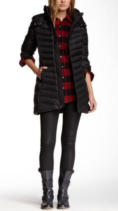 Bundled up. This Tommy Hilfiger Packable Down Coat looks cozy!