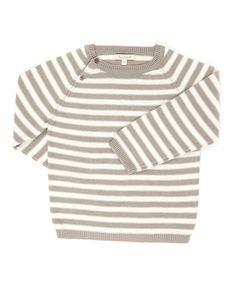 Gray grey stripe jumper