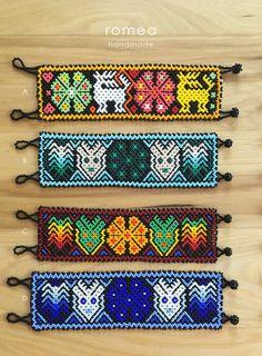 Huichol Beaded Bracelets Jewelry Huichol art Romea