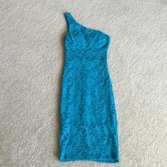 Cute Teal Dress Cute lace dress.  Possible Prom Dress. B. Darlin Dresses Midi
