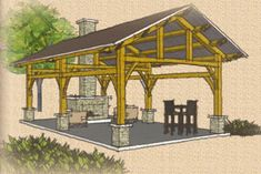 Timber Frame Gazebos Bridges Pavilions Outdoor Structures Barns