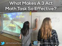 What Makes A 3 Act Math Task So Effective? Sparking Curiosity to Fuel Sense Making in Math Class. Act Math, Math Talk, Math 8, Daily Math, Guided Math, Math Tutor, Teaching Math, Math Education, Math Coach