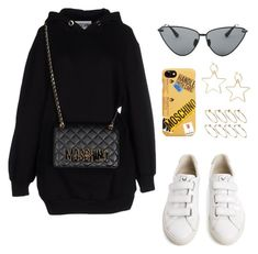 """Untitled #5819"" by lilaclynn ❤ liked on Polyvore featuring Moschino, Le Specs Luxe, Veja and ASOS"