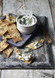 Seeded crackers with smoked mackerel dip. See the full recipe on http://www.somerset-life.co.uk/food-drink/recipes/a_sprinkling_of_spelt_1_4121337