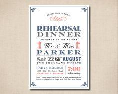 Printable Rehearsal Dinner Invitation  Vintage by rosiedaydesign, $15.00