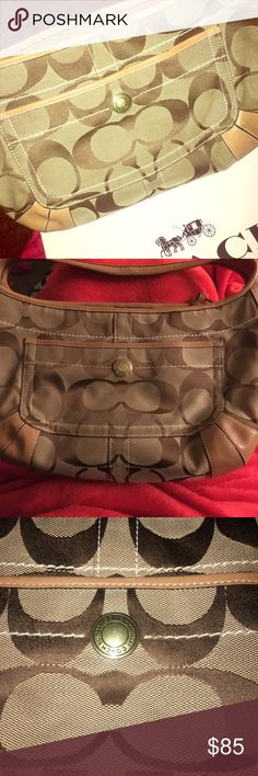 Coach hobo bag Authentic Coach hobo handbag  Brown and beige in color Ready to ship... Offers welcome Coach Bags Hobos
