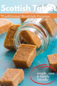 Scottish Tablet or 'Taiblet', in Scots, is a traditional Scottish confection made from sugar, butter and condensed milk. It can also be found under the name of the 'Swiss Milk tablet' since condensed milk is sometimes called Swiss Milk. #ScottishTablet #Scotland #ScottishDish #Cock #Smalec #dish #recipes #food #Europefood #homestaple #recipe #Taiblet