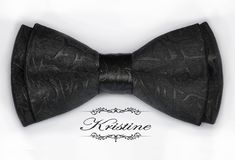 Brocade Bow Tie Elegant Men Bow Tie Black by KristineBridal, $25.00