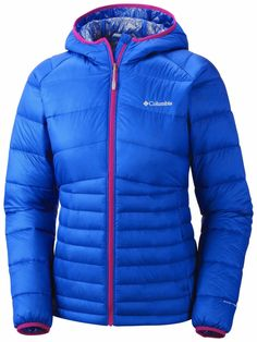 Women's Diamond 890 Turbodown™ Hooded Down Jacket - Blue Macaw - 1557911 Outdoor Outfit, Outdoor Gear, Blue Macaw, Columbia Sportswear, Fashion Brands, Hooded Jacket, Hoods, Jackets For Women, Winter Jackets