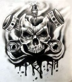 skulls pistons sparkplug - Google zoeken