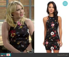 Gabi's black floral dress on Young and Hungry.  Outfit Details: http://wornontv.net/49387/ #YoungandHungry