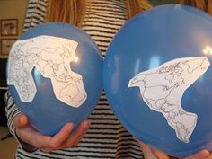 Going to do this with our continents and oceans unit year 2 week 1
