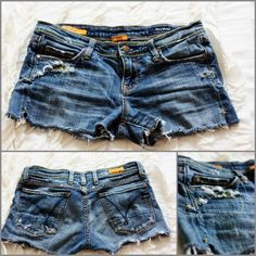 How to make shorts from thrift store jeans (and how to distress denim!)
