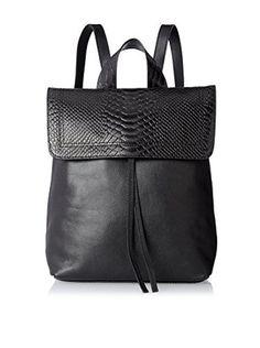 Possé Women's Ives Backpack, Black Snake/Black