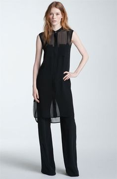Vince Sheer Silk Tunic available at Nordstrom